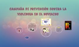 Campaña de prevención contra la violencia en el noviazgo