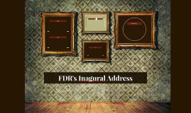 FDR's Inagural Address