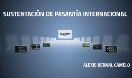 SUSTENTACIÓN DE PASANTÍA INTERNACIONAL