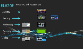 Introductions and Skill Assessment