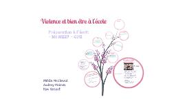 Violence et bien-être à l'école