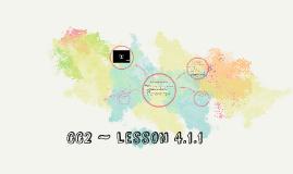 CC2 ~ Lesson 4.1.1