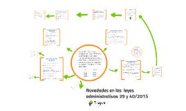 Novedades en las leyes administrativas 39 y 40/2015