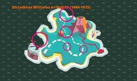 Dictaduras Militares en Bolivia