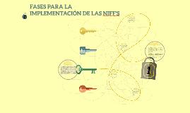FASES PARA LA IMPLEMENTACIÓN DE LAS NIFF'S