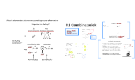 H1 Combinatoriek