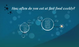 How often do you eat at fast food weekly?