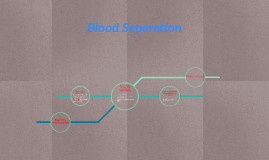 some techniques of separating bloods