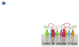 Copy of TYPES OF SPEECH STYLES