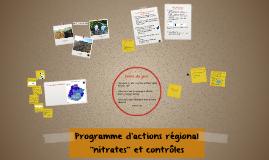 """6ème Programme d'actions régional """"nitrates"""""""