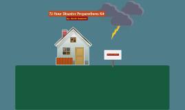 72 Hour Disaster Preparedness Kit
