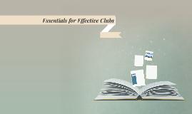 Running an Effective Club
