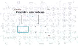 Das explizite Euler-Verfahren