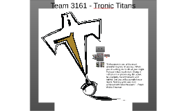 Team 3161 - Tronic Titans