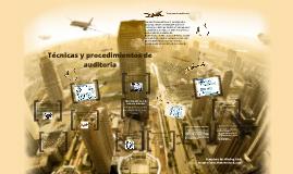 Copy of Técnicas y procedimientos de auditoría