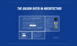 Copy of The Golden ratio in architecture
