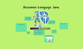 Resumen Lenguaje Java