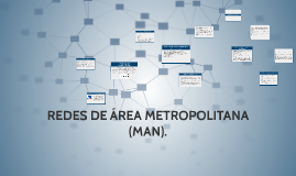 Copy of REDES DE ÁREA METROPOLITANA
