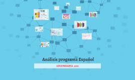 Programa Español secundaria