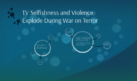 TV Selfishness and Violence Explode During War on Terror
