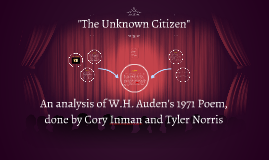 """The Unknown Citizen"""