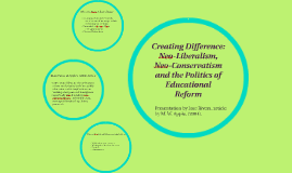 Creating Difference: Neo-Liberalism, Neo-Conservatism and th