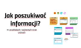 Jak poszukiwać informacji?