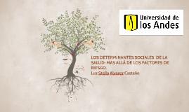 LOS DETERMINANTES SOCIALES  DE LA SALUD: MAS ALLÁ DE LOS FAC