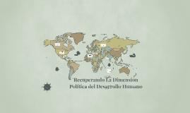 Recuperando La Dimensión Politica