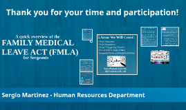 HPD THE FAMILY MEDICAL LEAVE ACT (FMLA) - SM