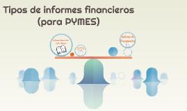 Tipos de informes financieros (para las empresas)