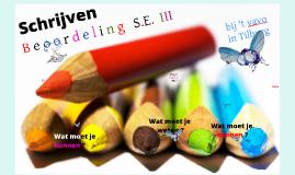 Schrijven SE III Beoordeling