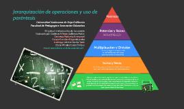 Jerarquización de operaciones y uso de parentesís