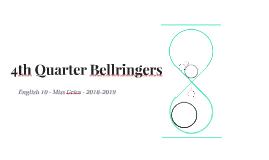 18-19 - 4th Quarter Bellringers