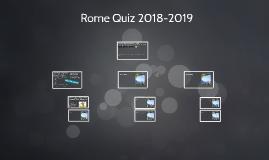 Rome Quiz 2018-2019