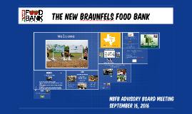 The New Braunfels Food Bank Advisory Board Meeting 9162016