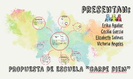 PROPUESTA DE ESCUELA