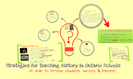 Teaching History- CHC2D,CHC2P, etc.