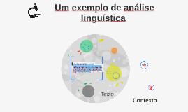 Exemplo de análise linguística