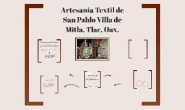 Artesania Textil de Mitla