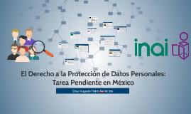 El Derecho a la Protección de Datos Personales: Tarea Pendie