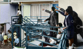 The assassination of Dr. Martin Luther King Jr 1968