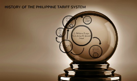 HISTORY OF THE PHILIPPINE TARIFF SYSTEM