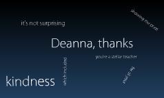 Thanks to Deanna