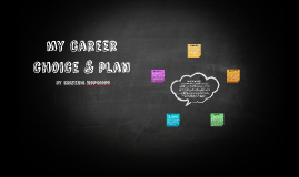 my career choice & plan