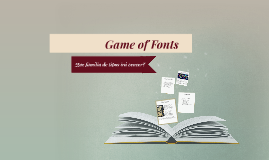 Game of Fonts
