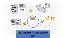 PROYECTOS DE INVERSIÓN 2015