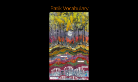 Batik Vocabulary