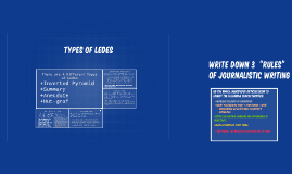 Types of Ledes