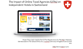 The Impact of Online Travel Agencies (OTAs) on Independent H